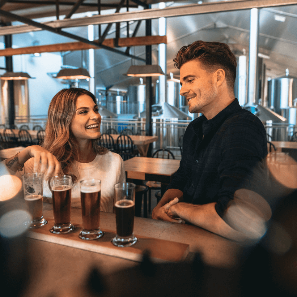 Couple at Brewery