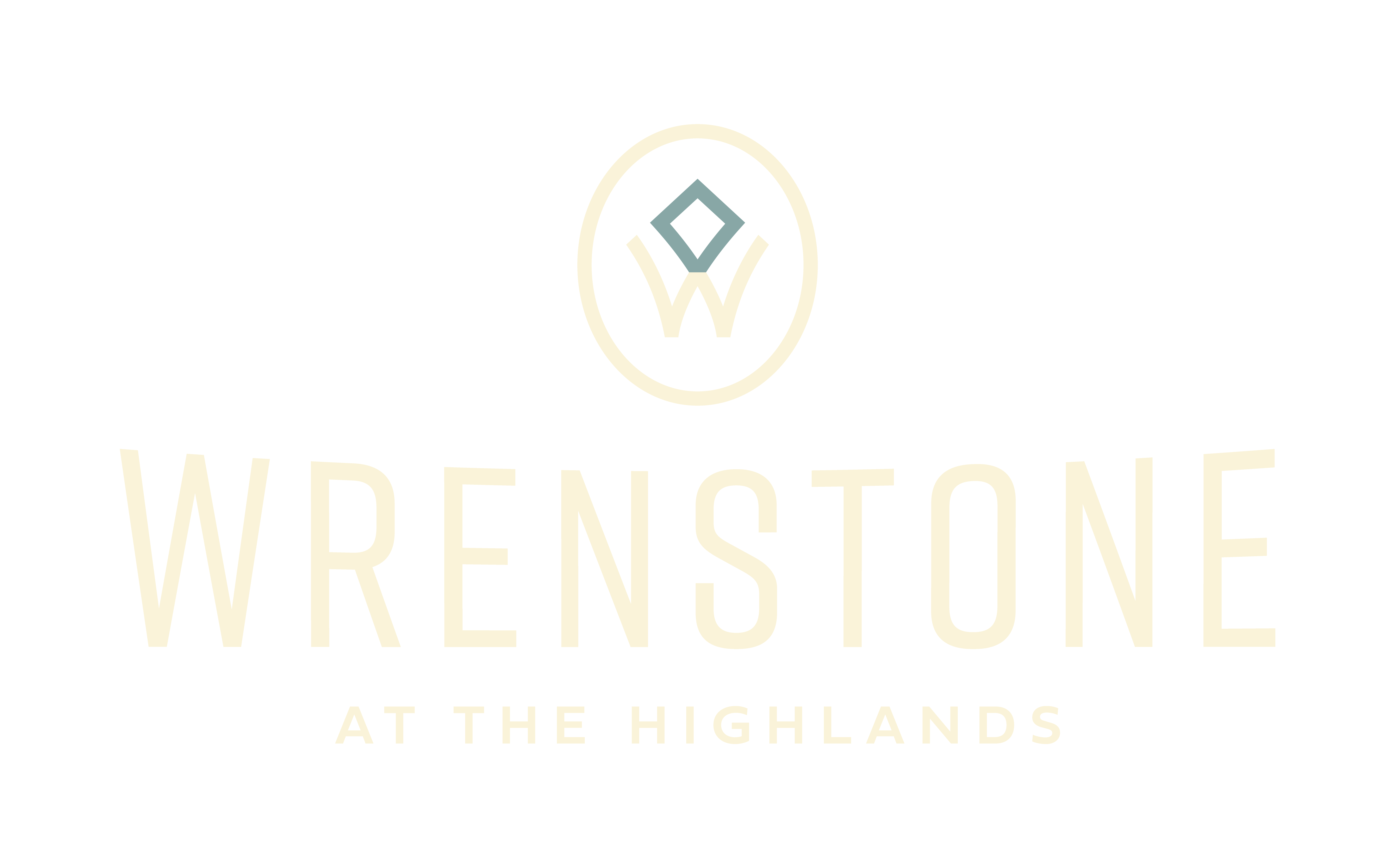 Wrenstone Logo - Cream