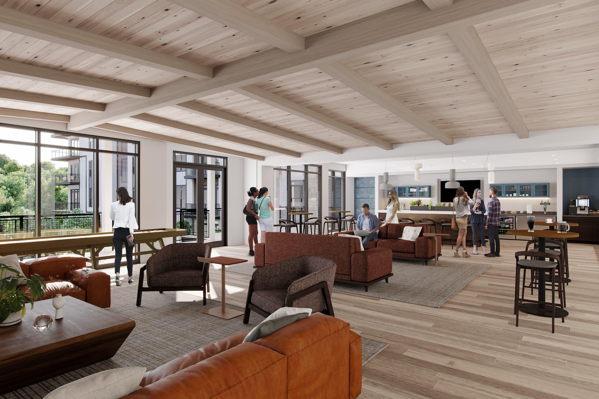 Rendering of Wrenstone Lounge