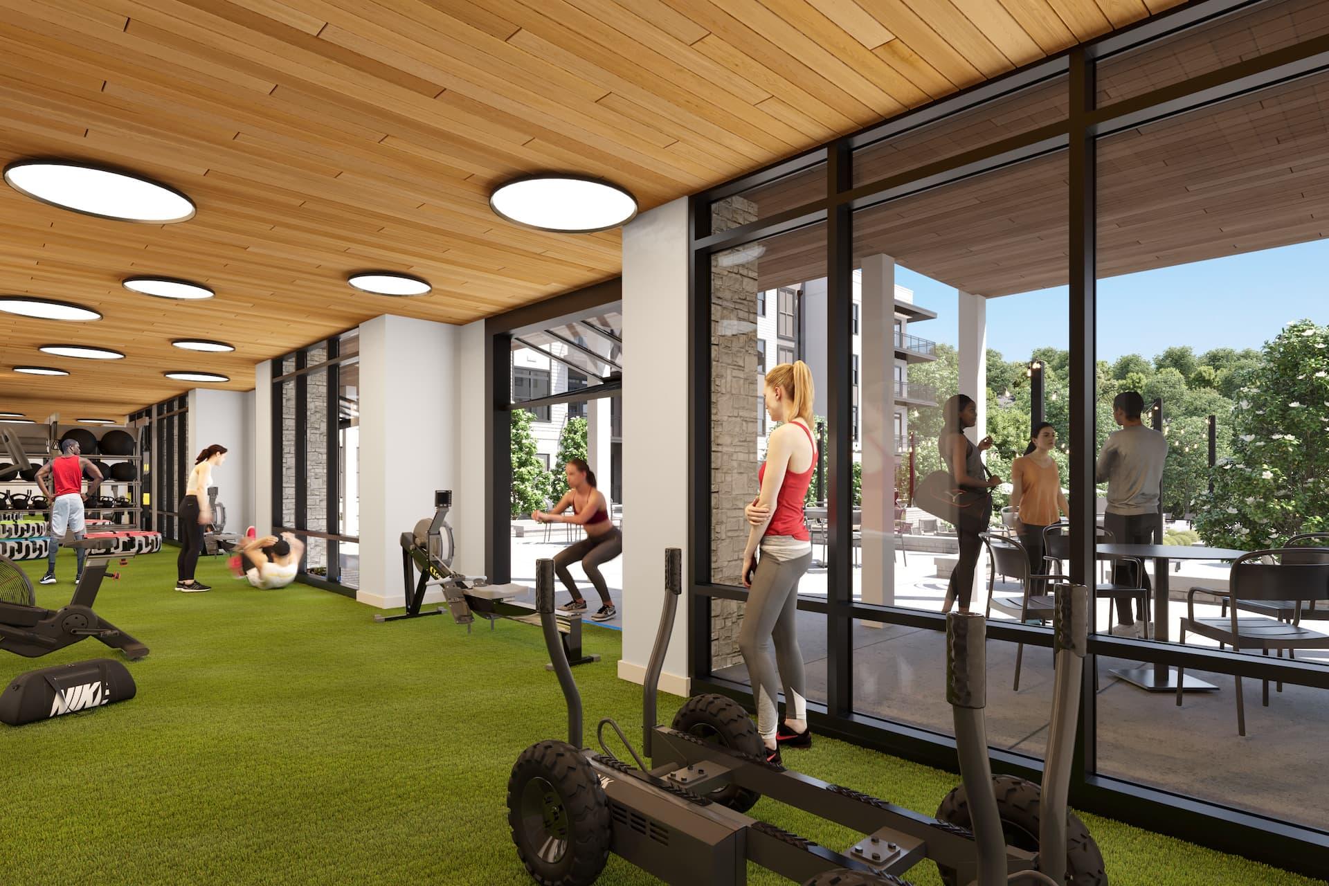 Wrenstone's large fitness room
